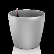Ghiveci Lechuza classico argintiu 60 sau 70 cm cu sistem udare