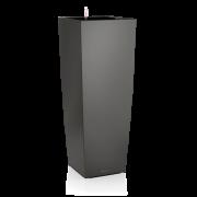 Ghiveci Lechuza cubico -ALTO 40x40x105 cm antracit cu sistem udare