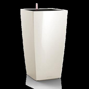 Ghiveci Lechuza cubico 22...50 cm alb cu sistem udare
