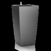 Ghiveci Lechuza cubico 22...50 cm antracit cu sistem udare