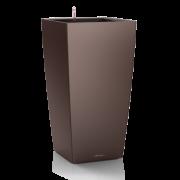 Ghiveci Lechuza cubico 22...50 cm espresso  cu sistem udare