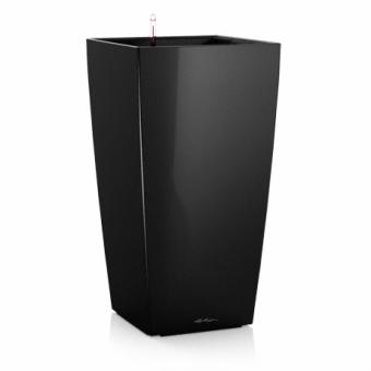 Ghiveci Lechuza cubico 22...50 cm negru cu sistem udare