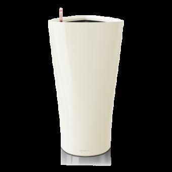 Ghiveci Lechuza delta 30 sau 40 cm alb cu sistem udare