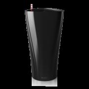 Ghiveci Lechuza delta 30 sau 40 cm negru cu sistem udare