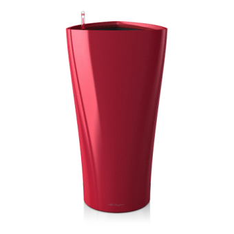 Ghiveci Lechuza delta 30 sau 40 cm rosu cu sistem udare