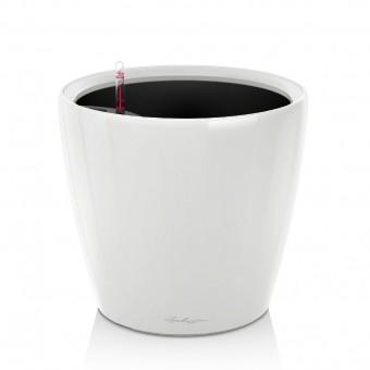 Ghiveci Lechuza classico -LS 21...43 cm alb cu liner si sistem udare