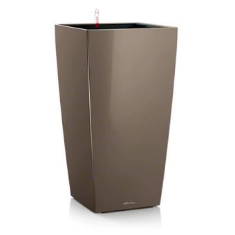 Ghiveci Lechuza cubico 22...50 cm taupe  cu sistem udare