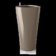 Ghiveci Lechuza delta 30 sau 40 cm taupe cu sistem udare