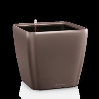 Ghiveci Lechuza quadro 21...50 cm espresso LS cu liner si sistem udare
