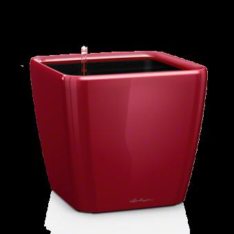Ghiveci Lechuza quadro 21...50 cm rosu LS cu liner si sistem udare