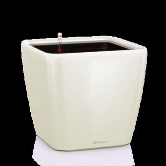 Ghiveci Lechuza quadro 21...50 cm alb LS cu liner si sistem udare