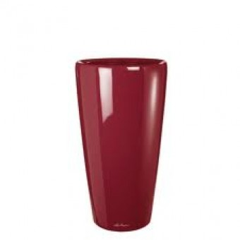 Ghiveci Lechuza rondo 32 sau 40 cm rosu cu sistem udare